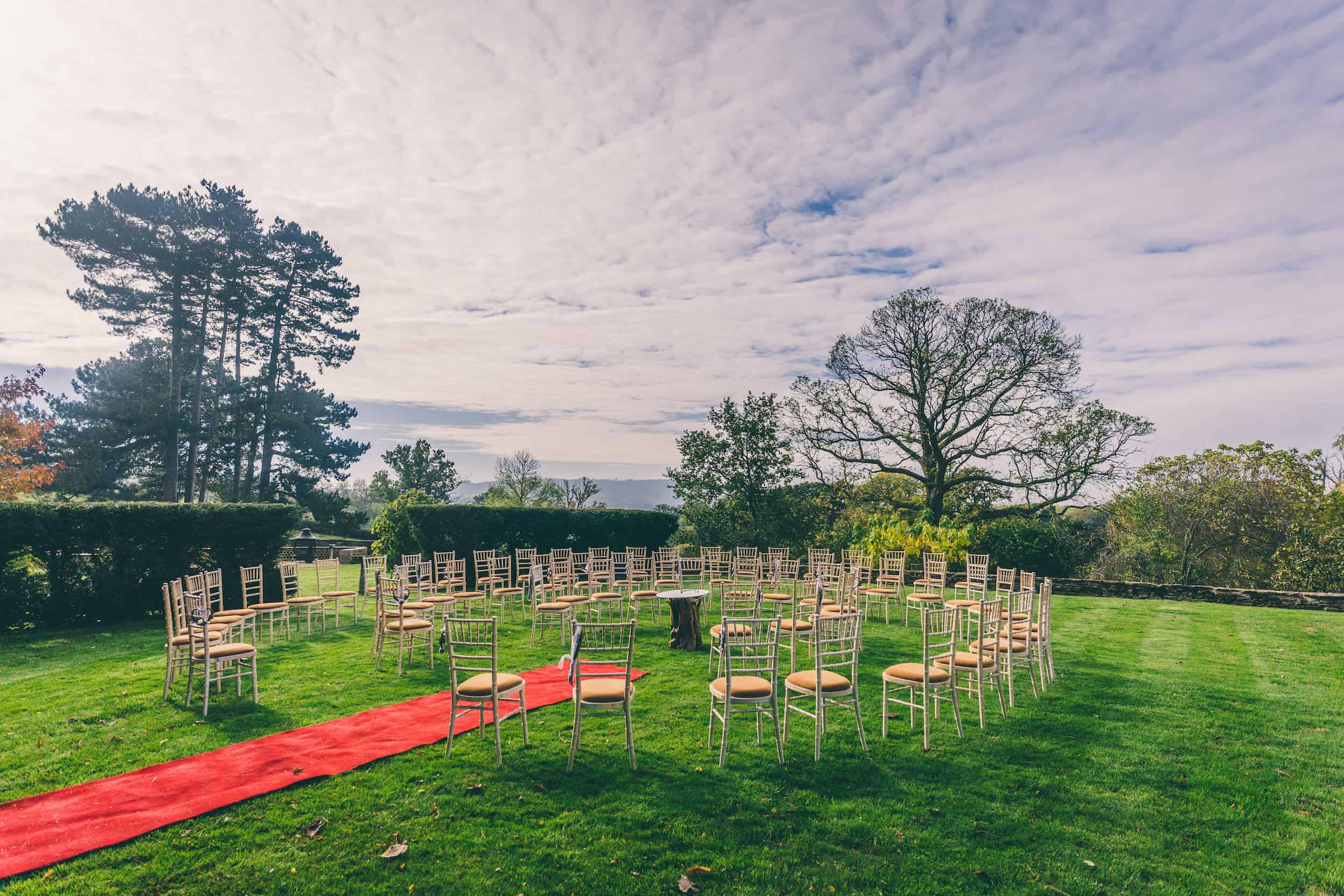 October Outdoor Wedding at Glenfall House